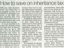 inheritance tax saving