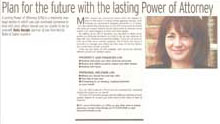 Lasting power of attorney article