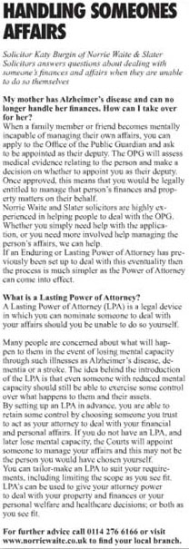 Handling someones finances alzheimers or dementia lasting power of attorney solutioingenieria Image collections