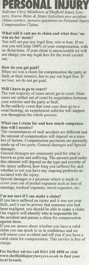 injury claims faq