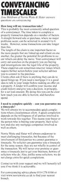 conveyancing timescales